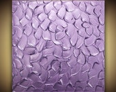 ORIGINAL Abstract Metallic Purple Painting- Texture Art Lavender Home Decor Wall Art Large Modern palette knife painting MIX & MATCH Susanna