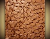 ORIGINAL Copper Abstract Painting Orange Metallic Textured Wall Art Home Decor Large Modern Palette Knife Canvas Art MIX&MATCH by Susanna