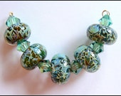 Mossy Riverbank Boro Lampwork Bead Set