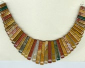Fancy Jasper Cleopatra Collar Fan 41pc Bead Set