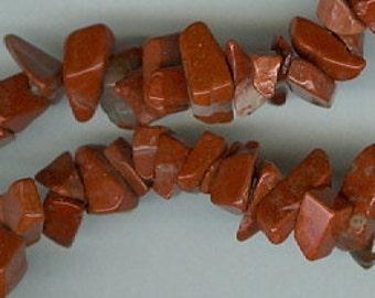 35in Red Breciated Jasper Chip Beads
