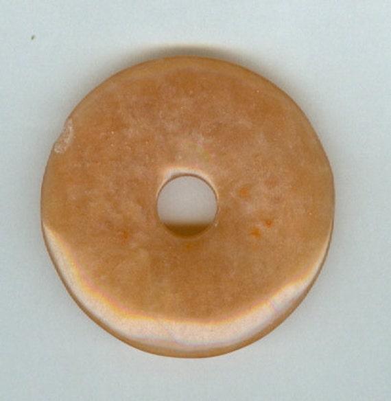 OOOPPPSSS - 40mm Red Aventurine PI Donut Pendant Bead