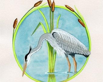 Herons Against Hostility - Art Print