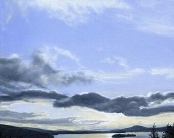 Art Print - Rangeley Lake in March