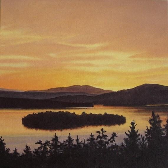 Art Print - Rangeley Lake in September