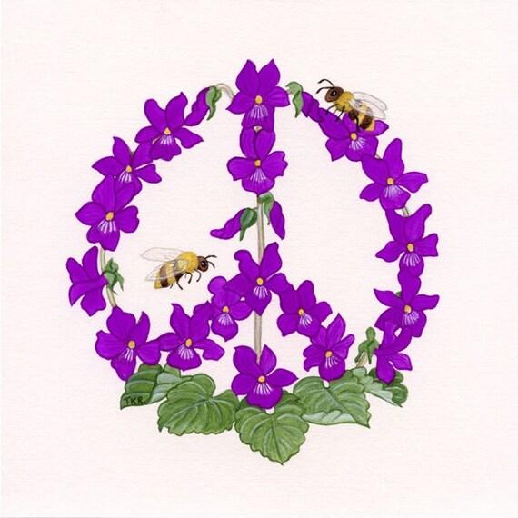 Violets Against Violence - Fine Art Print
