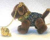 Dress Up Dog Peridot, Sapphire and Gold Necklace