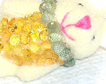 Dress Up Bunny Sapphire and Italy Sterling Silver Necklace