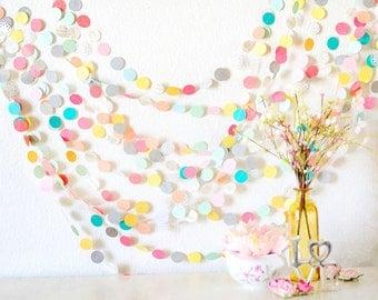 Lovely Summer Picnic Paper 15' Paper Garland, weddings, easter, birthdays, showers, nurserys