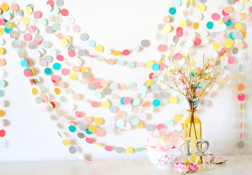 Popular items for paper garland wedding decoration on Etsy