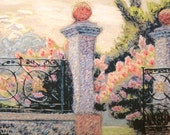"print of plein air impressionist pastel painting ""East Gate at Tower Grove Park"""