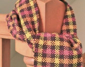Handwoven Fall Scarf Very Soft, Natural Fibers