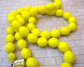 Blinding Bright Yellow Fresh Vintage Bling Necklace
