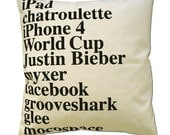 GOOGLE PILLOW 2010