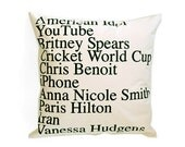 GOOGLE NEWS TOP SEARCHES IN 2007 PILLOW