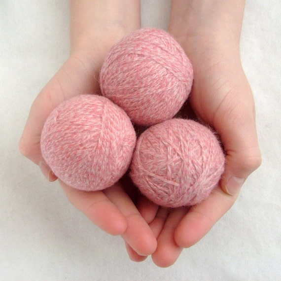 Eco-friendly wool dryer balls, set of 3 surprise colors