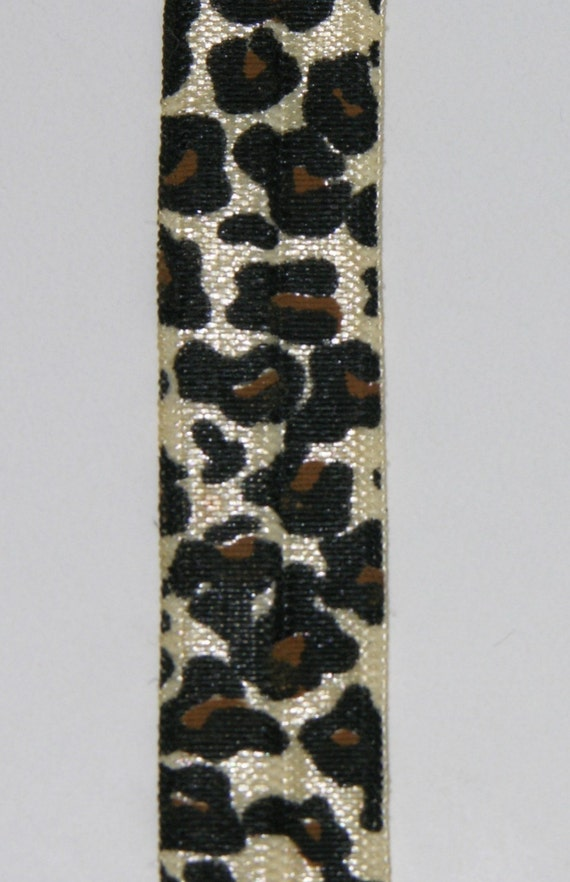 TAN/NATURAL Leopard FOE fold over elastic - perfect for infant headbands, and so much more