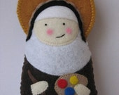 Saint Catherine of Bologna Felt Saint Softie