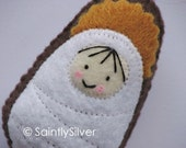 Jesus of the Nativity Mini Saint Softie