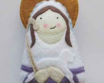 Saint Germaine Cousin Felt Saint Softie