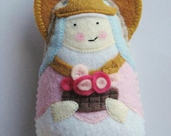Saint Isabella of Portugal Felt Saint  Softie