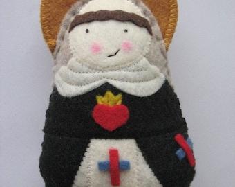 Saint Michael of the Saints Felt Saint Softie