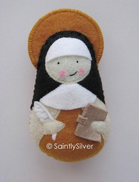 Saint Teresa of Avila.....Felt  Softie