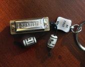 Hohner Harmonica Keychain