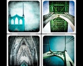 St Johns Bridge - Ceramic Coaster Set