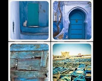 Eyeshoot Morocco Blue Ceramic Coaster Set