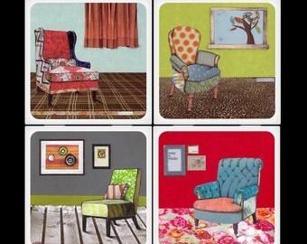 Have a Seat Ceramic Coaster Set