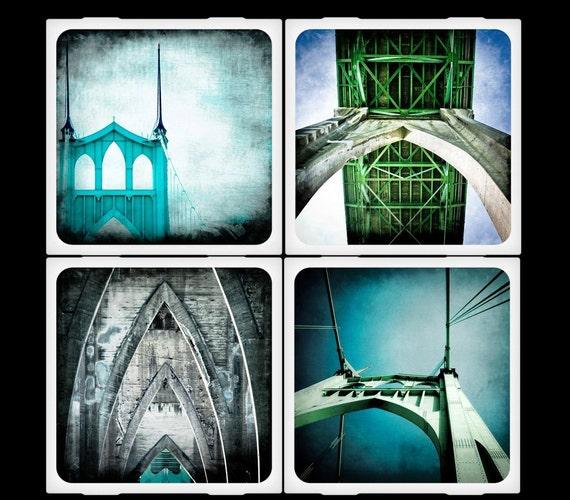 St Johns Bridge - Ceramic Coaster Set