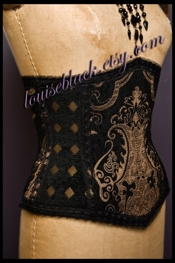 SALE Corset Queen Mary  Tudors Cincher by Louise Black Limited Edition Ready to Ship Size Medium LAST ONE