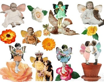 Pretty Little Fairy Ones Digital Collage Sheet