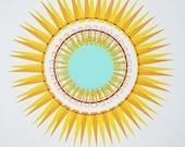 SALE - Screenprint - Sunshine - Handpulled silkscreen print