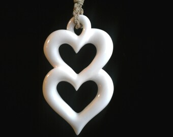 57 - Double hearts pendant