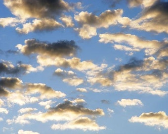 Ethereal - 5x7 Nature Photograph - Clouds in Morning Sky - IN STOCK