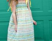 The Kacee Sundress Size 6, 8, 10 Shirred Striped