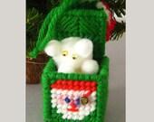 Retro Bear in a Box Ornament