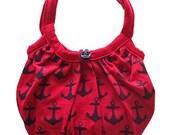 RESERVED Hola Sailor Bag in Red - Psycho Renewal