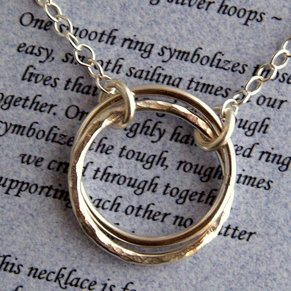 Friendship Journey Sterling Silver Necklace with Poem - Best Friend - Bridesmaid - Gift Boxed
