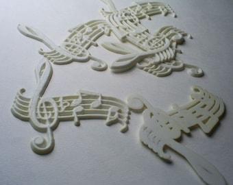 6x Vintage Plastic Music Finding