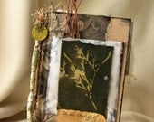 mixed media altered book NATURE journal leaf prints ephemera