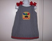 Back to School Color Crayons Applique A-line Dress size 3 months thru size 6X