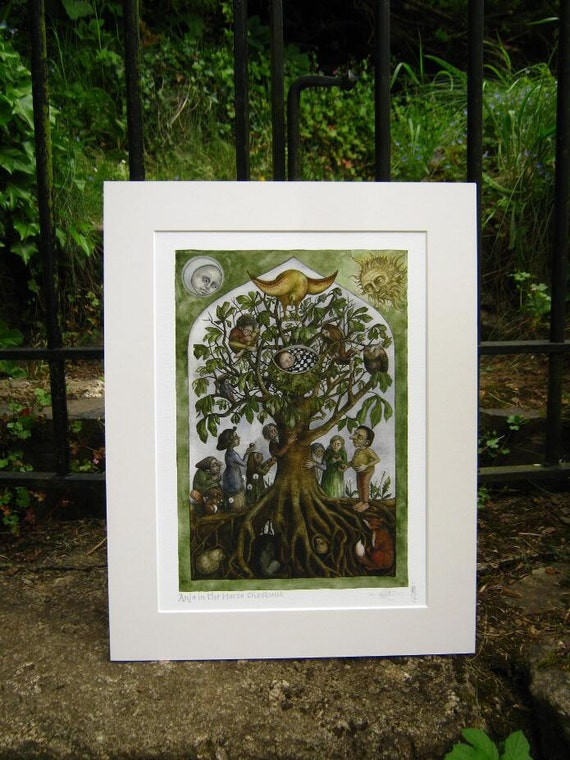 Anja in the Horse Chestnut - Archival giclée print in mount