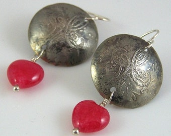 Etched Relic Earrings