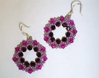Earrings - Swarowski crystal circles