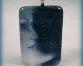 Moon Goddess Glass Tile Pendant