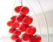 SALE - Entire Shop - Buy 2 Get 1 Free - Sheer Red Fringe