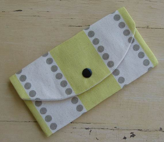 Clutch Wallet- Yellow- Off White- Grey- Single Pocket